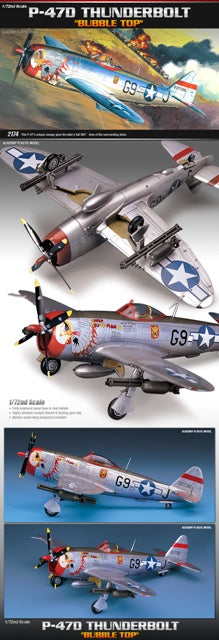Academy 12491 P-47D Thunderbolt 'Bubble Top'