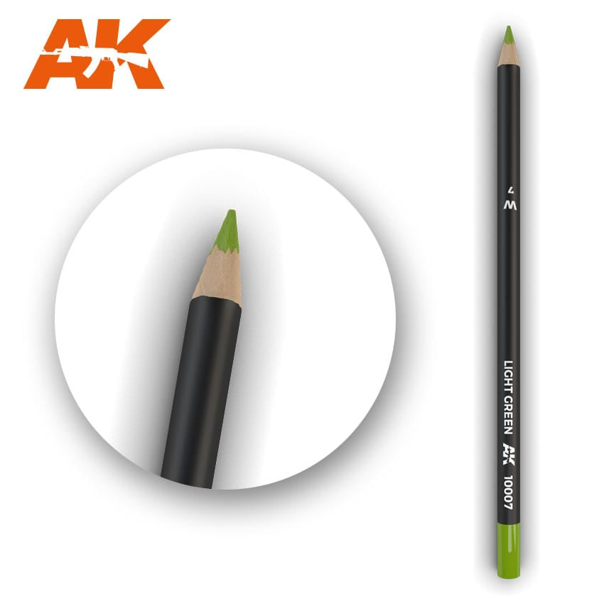 AK-Interactive AK10007 Watercolor Weathering Pencil - Light Green