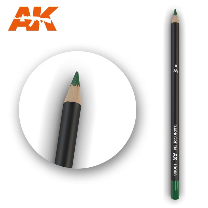 AK-Interactive Watercolor Weathering Pencil - Dark Green
