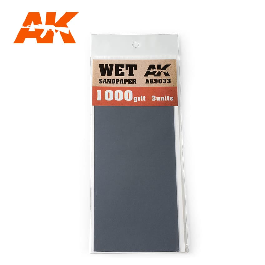 AK-Interactive AK9033 Wet Sandpaper 1000