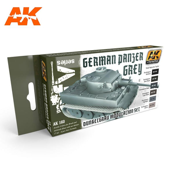 AK-Interactive AK160 Panzer Grey Modulation Set