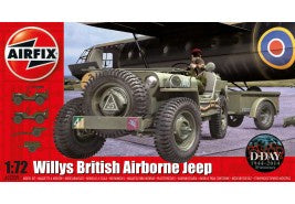 Airfix Willys Jeep, Trailer & 6PDR Gun