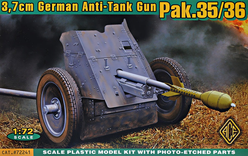 ACE Models 72241 3.7cm German Anti-Tank Gun PAK.35/36