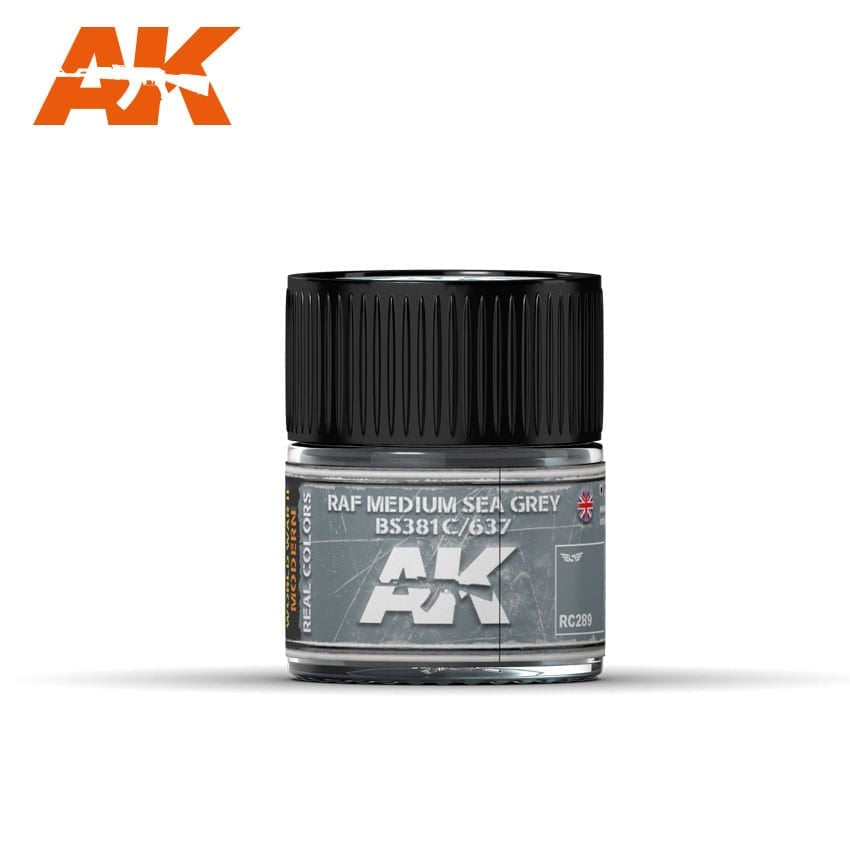 AK-Interactive RC289 RAF Medium Sea Grey BS381C/637 - 10ml