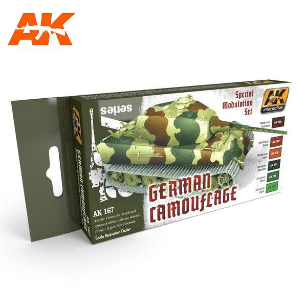 AK-Interactive AK167 German Green & Brown Modulation Set
