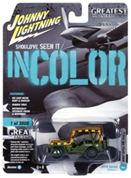 Johnny Lightning 50 Years Release 1 Version B Military WWII Willys MB Jeep