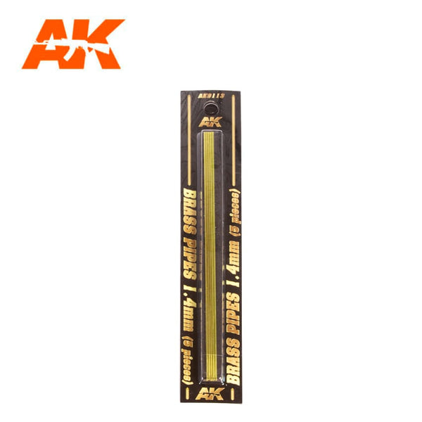 AK-Interactive AK9113 Brass Pipes 1.4mm x 5