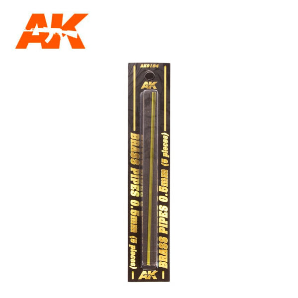AK-Interactive AK9104 Brass Pipes 0.5mm x 5