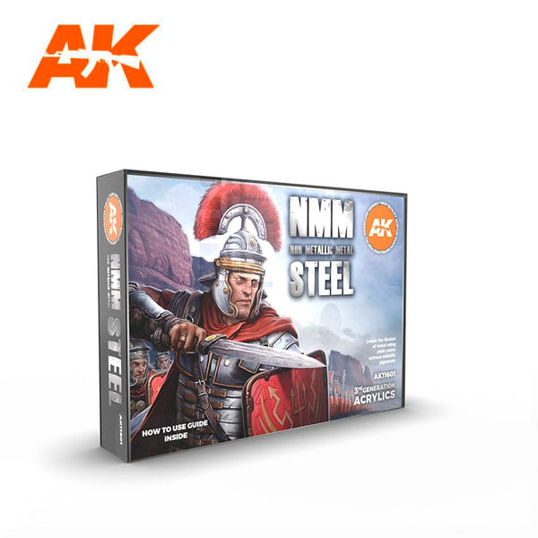 AK-Interactive AK11601 Non-Metallic Metal: Steel Set