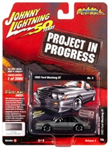 Johnny Lightning 50 Years Release 3 Version A Street Freaks 1982 Ford Mustang GT