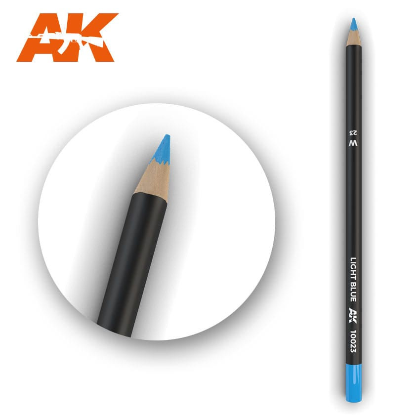 AK-Interactive AK10023 Watercolor Weathering Pencil - Light Blue