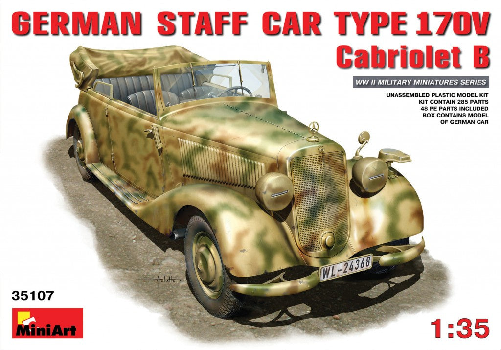 Miniart 35107 German Staff Car MB 170V Cabriolet