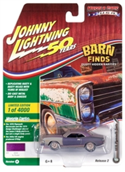 Johnny Lightning 50 Years Release 2 Version A Barn finds 1970 Plymouth Cuda