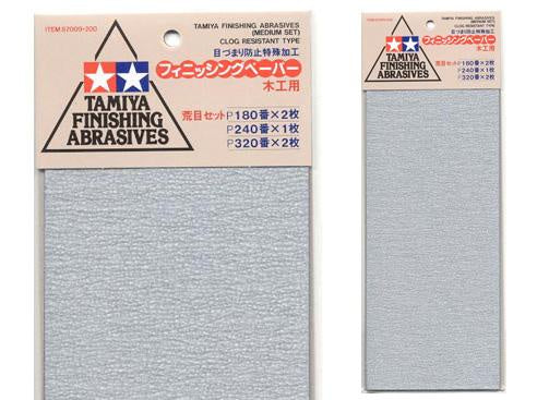Tamiya 87009 Finishing Abrasives P180/240/320