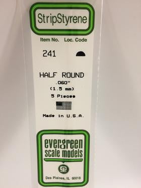 Evergreen 241 Half Round - 1.50mm