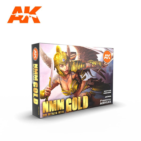 AK-Interactive AK11606 (Non Metallic Metals) Gold Colors Set