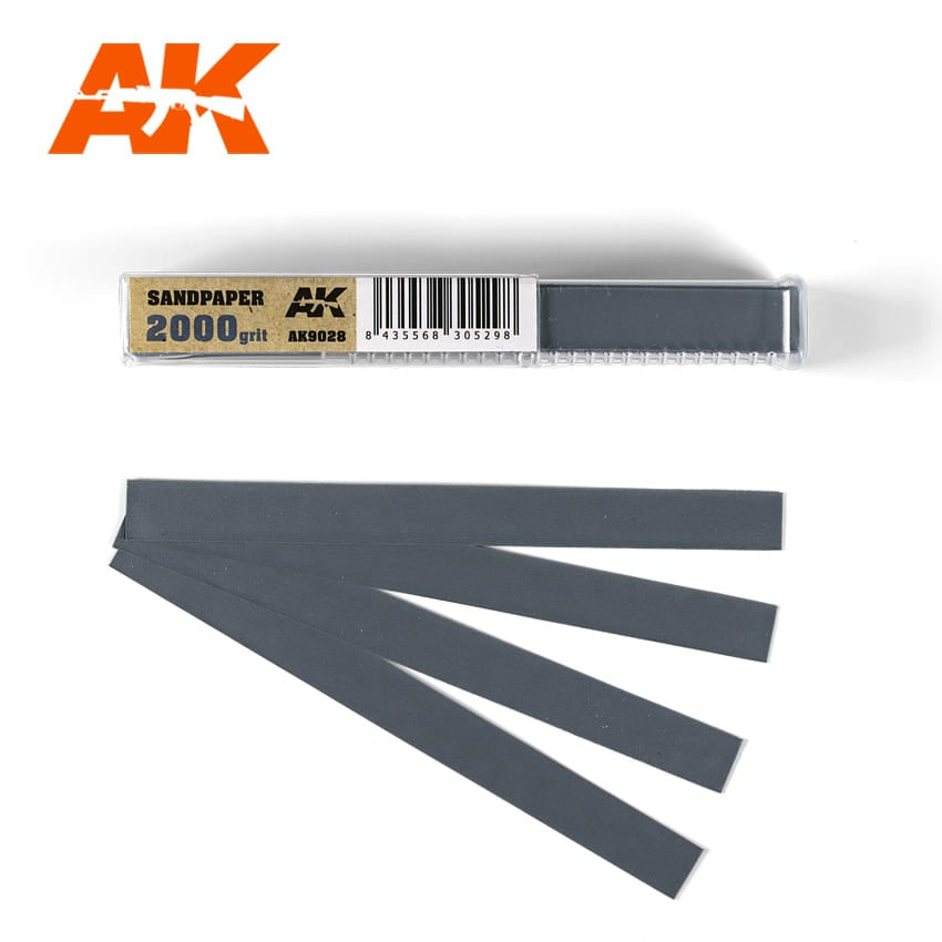 AK-Interactive AK9028 Sandpaper 2000 Grit - Wet - 50 Pieces