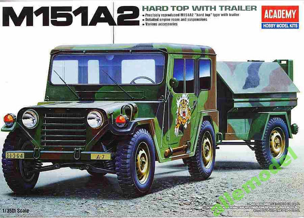Academy 13012 M151A2 Hard Top with Trailer