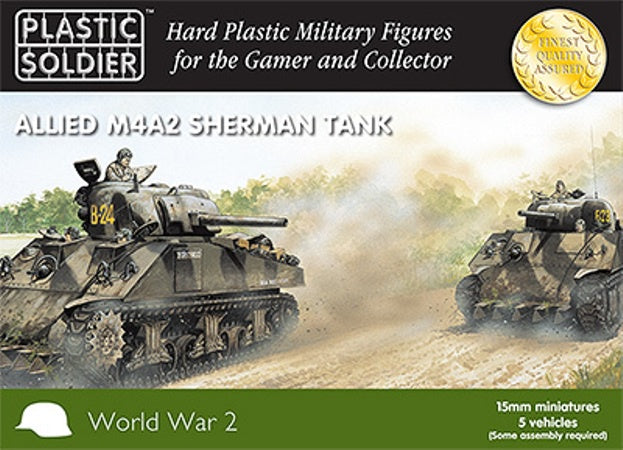 PSC WW2V15006 Allied M4A2 Sherman Tank