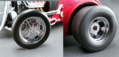GMP 18841 Chromed Hot Rod  Wheel & Tire Set
