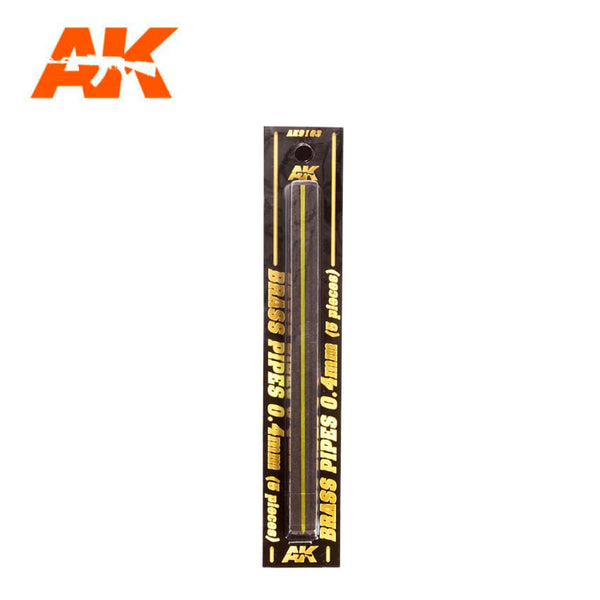 AK-Interactive AK9103 Brass Pipes 0.4mm x 5