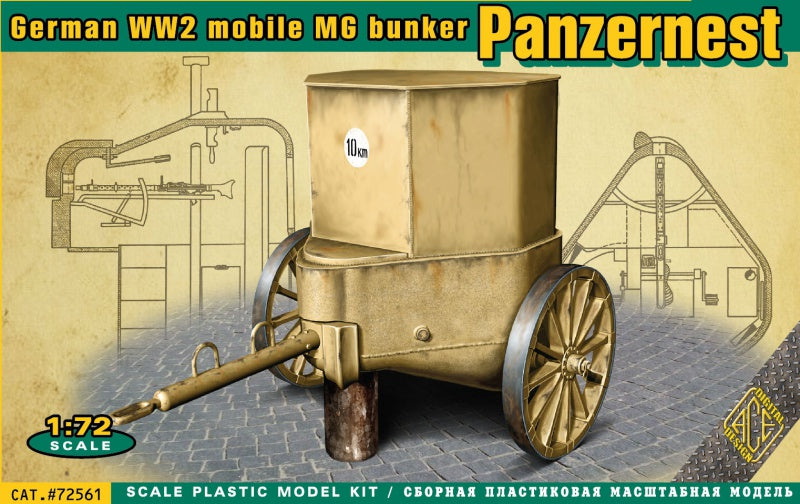 ACE Models 72561 German WW2 Mobile MG Panzernest