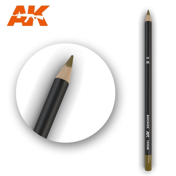 AK-Interactive AK10036 Watercolor Weathering Pencil - Bronze