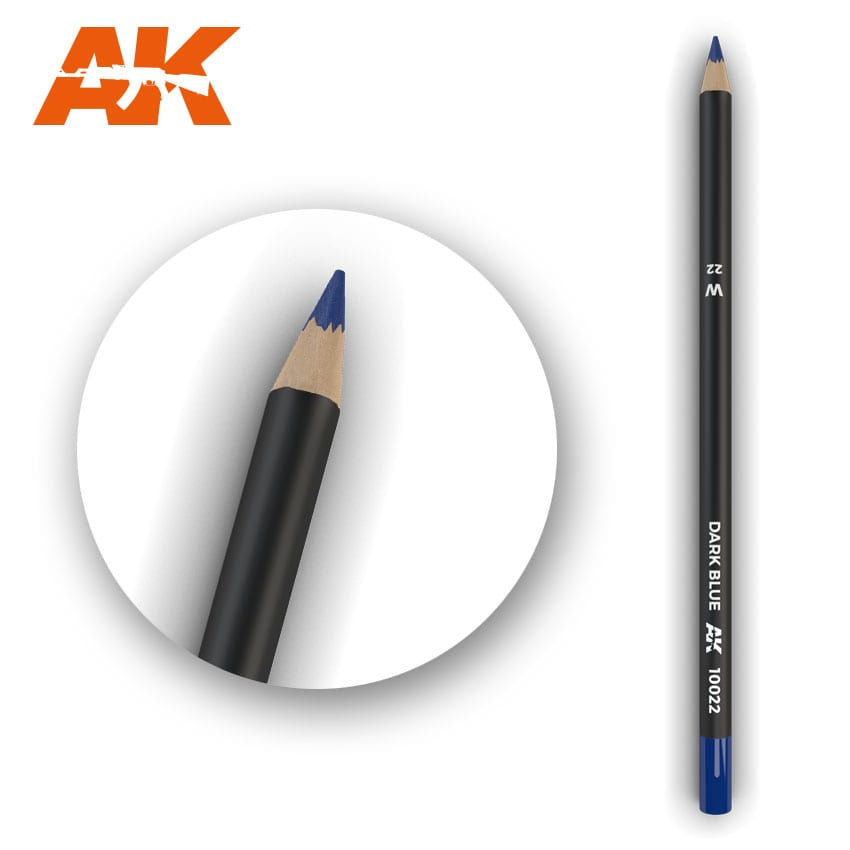 AK-Interactive Watercolor Weathering Pencil - Dark Blue