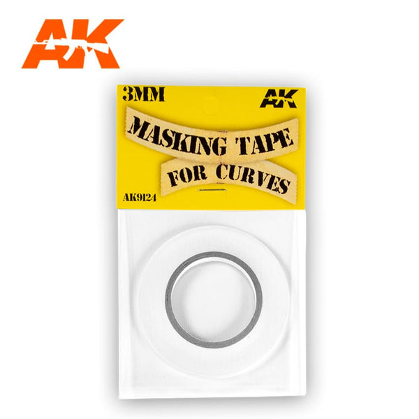 AK-Interactive AK9124 Masking Tape 3mm for Curves