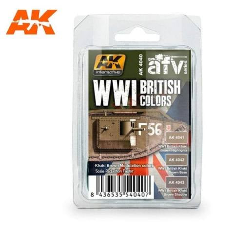 AK-Interactive AK4040 WWI British Colors Set