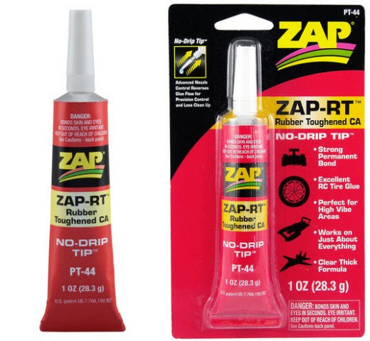 Zap PT44 Zap-RT CA - Rubber Toughened - 28.3gm