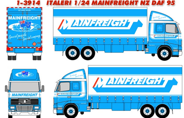 Italeri 3914 DAF 95 Canvas 'Mainfreight'