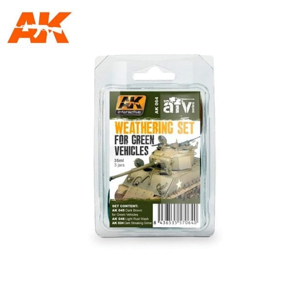 AK-Interactive AK064 Weathering Set for Green Vehicles
