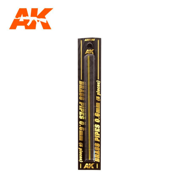 AK-Interactive AK9105 Brass Pipes 0.6mm x 5