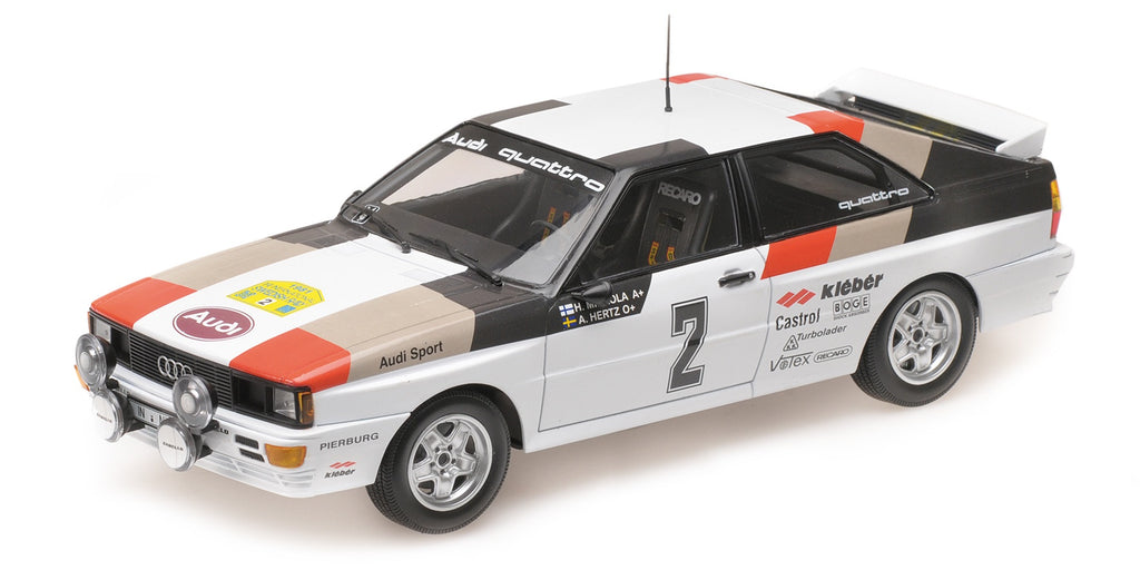 Minichamps 155811102 Audi Quattro Winner Swedish Rally 1981