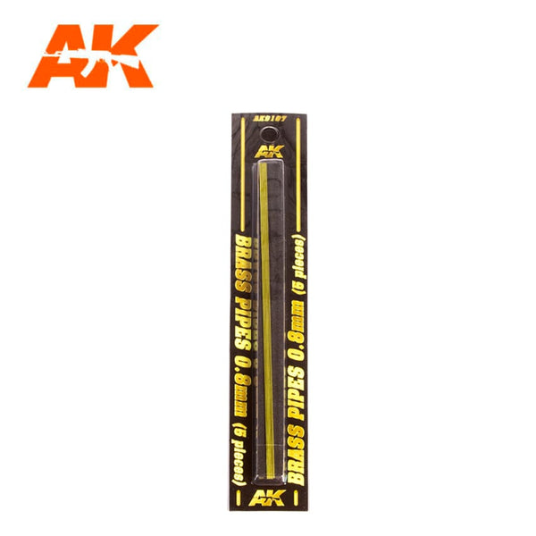 AK-Interactive AK9107 Brass Pipes 0.8mm x 5