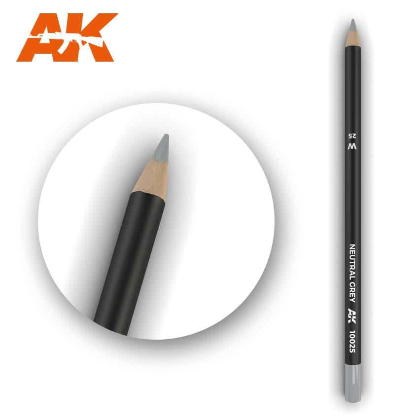 AK-Interactive Watercolor Weathering Pencil - Neutral Grey