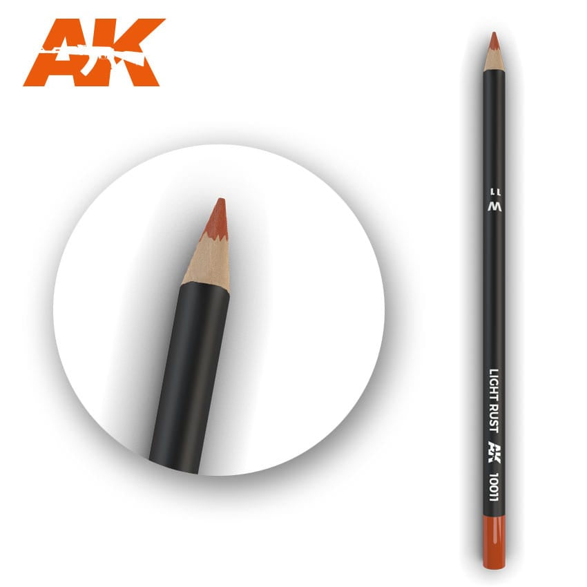 AK-Interactive AK10011 Watercolor Weathering Pencil - Light Rust