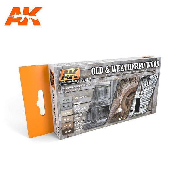 AK Interactive AK563 Old & Weathered Wood Vol. 2