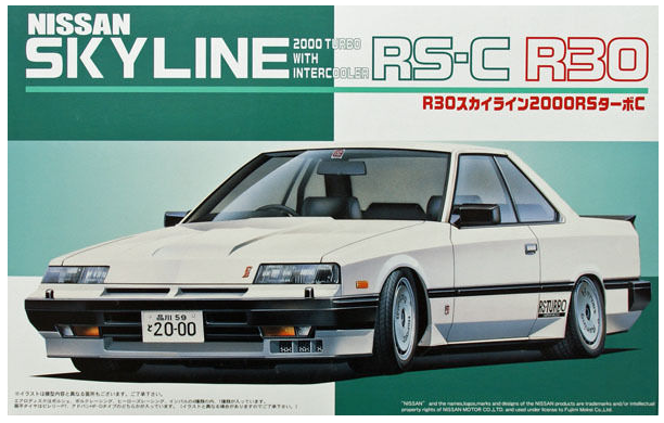 Fujimi 03654 Nissan Skyline 2000 Turbo RS-C R30 - 1/24 Scale
