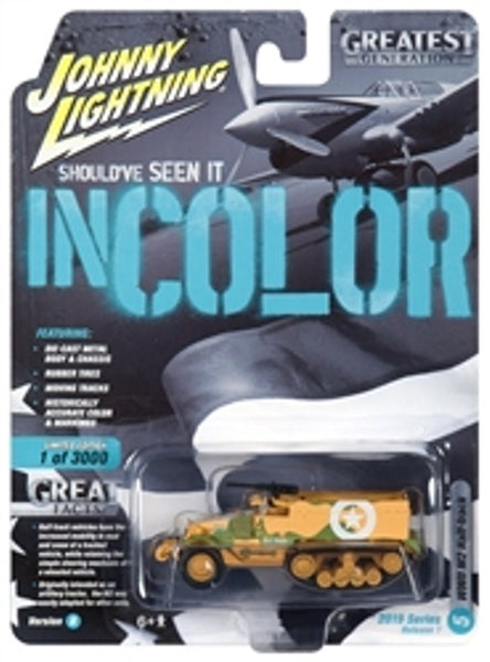 Johnny Lightning 50 Years Release 1 Version B Military WWII M2 Half-Track