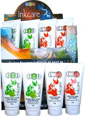Inkcare Step 2 Inkcare Tattoo Soap Free Wash 8 x70g & Step 3 Inkcare Tattoo Anti-Fade Moisturiser with Sunscreen 8 x 70g