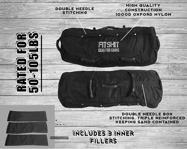 FITSHIT Heavy Duty (50-110lbs) Training Sandbag