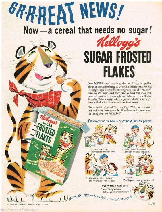 Thanks Mr Kellogg for your cereals. If only your brother didn't lace them with sugar and you weren't so anti masturbation.