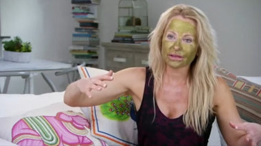 Swedish Star Åsa Vesterlund Shows off her Adore Cosmetics Gold Mask