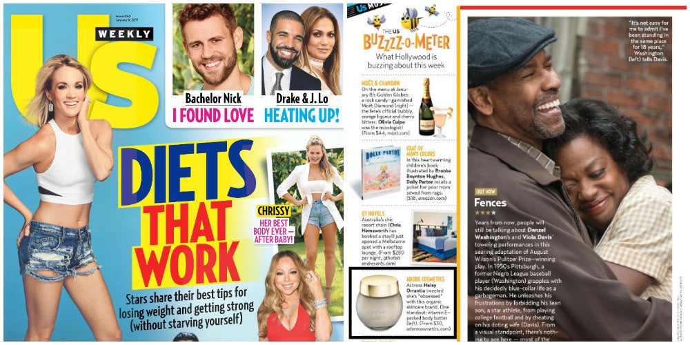 Adore Cosmetics Featured in US Weekly Print Edition