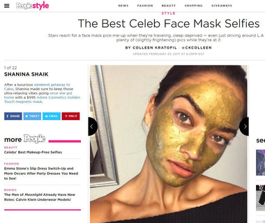 Adore Cosmetics Golden Touch Magnetic Facial Mask featured on People
