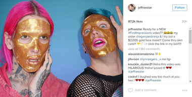 Jeffree Star Demos Adore Cosmetics 24K Gold Mask