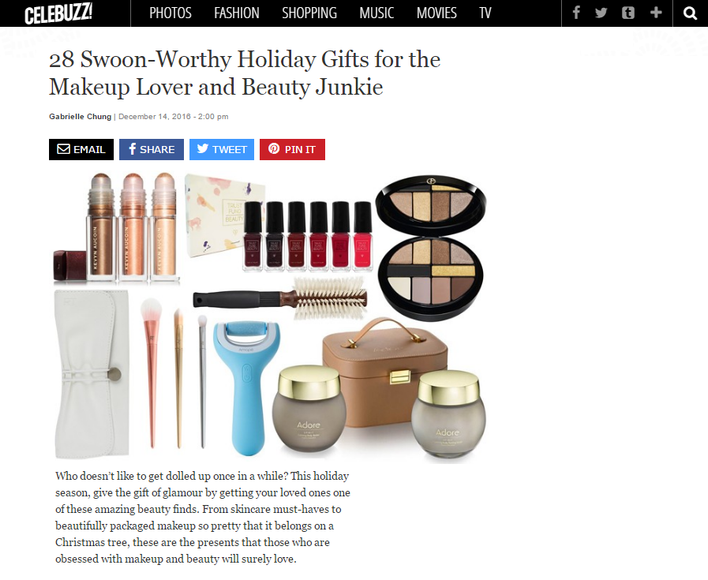 Celebuzz! Features Adore Cosmetics Holiday Set