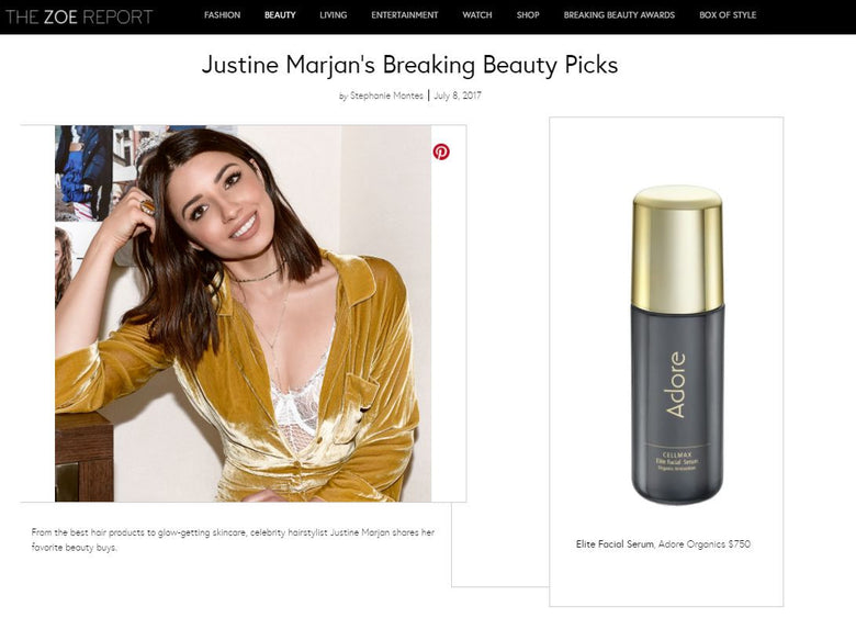 Cellmax Elite Facial Serum Makes Justine Marjan's Breaking Beauty Picks